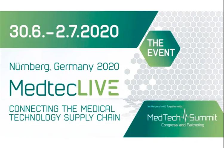 2020年紐倫堡醫療展MedtecLIVE推遲至6月30日-7月2日