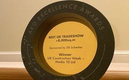 英国建筑周UKCW被授予年度最佳贸易展览奖