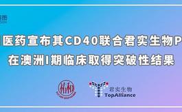 祐和医药宣布其CD40联合君实生物PD-1在澳洲取得突破性结果