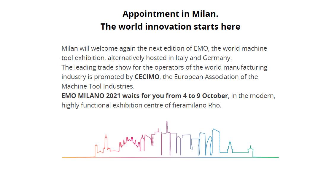 意大利米蘭機床展覽會EMO MILANO