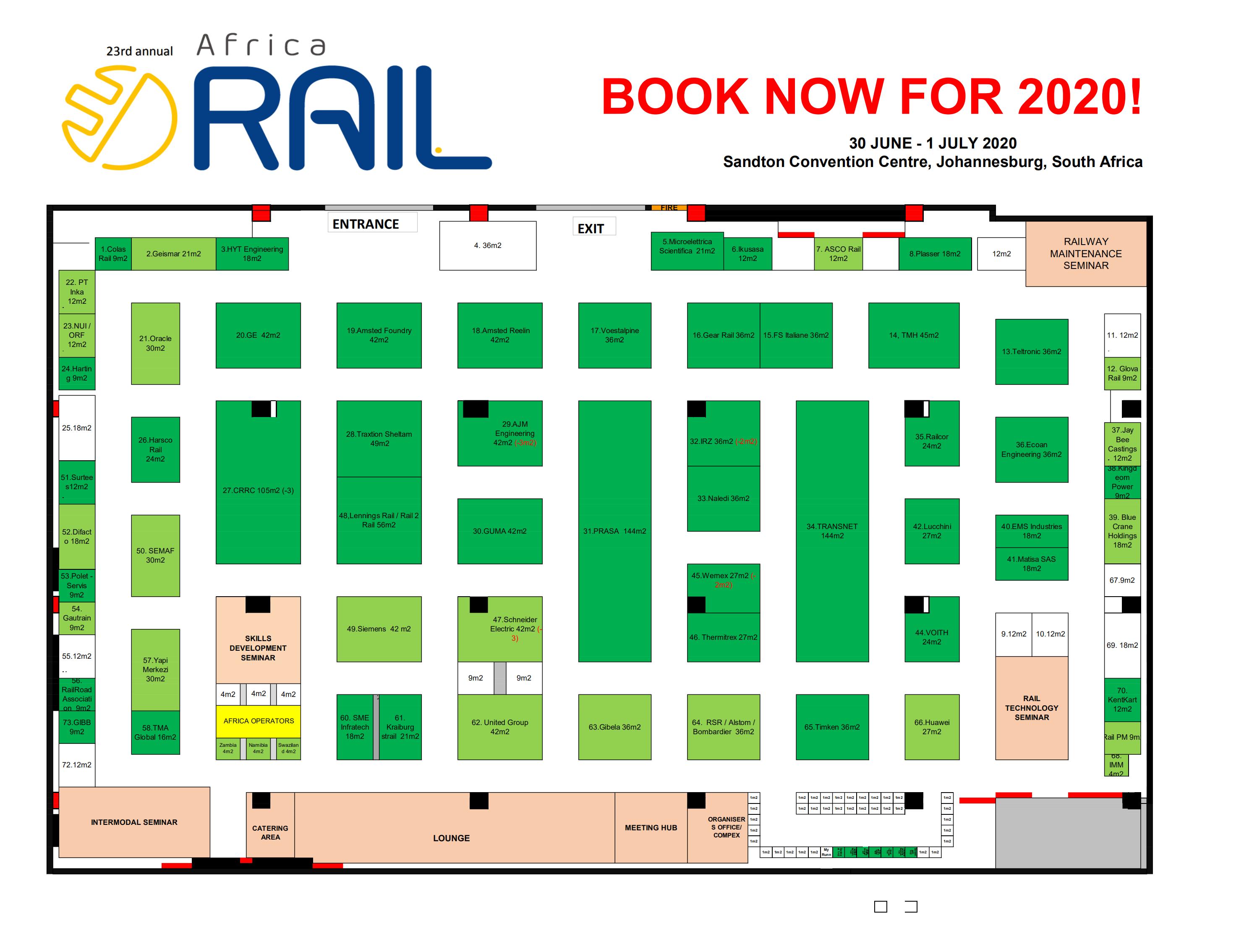 南非約翰內斯堡鐵路軌道交通展覽會Africa Rail
